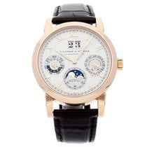 A. Lange & Söhne Rose gold Automatic Silver Roman numerals 38.5mm pre-owned Langematik Perpetual