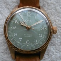 Oris Big Crown Pointer Date Bronze 40mm Grün Arabisch Deutschland, Pforzheim