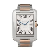 Cartier Tank Anglaise Gold/Steel 36mm Silver Roman numerals