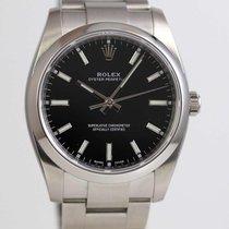 Rolex Oyster Perpetual 34 Acier 34mm Noir Sans chiffres