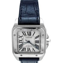 Cartier Santos 100 pre-owned Silver Leather