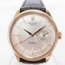 Rolex Cellini Date Rose gold 39mm Silver No numerals