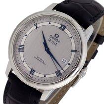Omega De Ville Prestige pre-owned 39.5mm Silver Date Leather