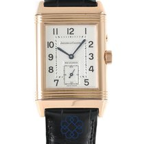 Jaeger-LeCoultre Red gold Manual winding Silver Arabic numerals pre-owned Reverso Duoface