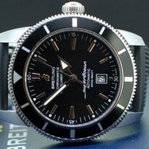 Breitling Superocean Héritage 46 gebraucht 46mm Schwarz Datum Faltschließe