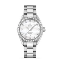 Omega Aqua Terra Seamaster Diamond Bezel Ladies Watch 231.15.3...