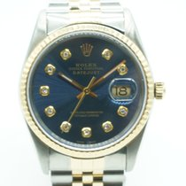 Rolex Datejust 36mm two tone blue diamond dial