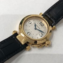 Cartier 18k Yellow Gold Pasha, Diamond Dial, Ref: WJ11891G (32mm)