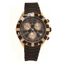 Cerruti 1881 Ladies Chronograph Watch Brown Rose Gold tone...