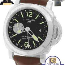 Panerai MINT  PAM 88 Luminor GMT Date Automatic Black Brown...
