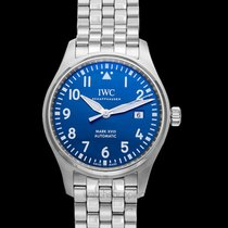 IWC Pilot Mark Steel 40.00mm Blue United States of America, California, San Mateo