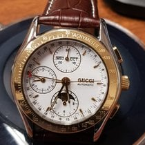 Gucci Steel and Gold Triple Date Moonphase Chronograph