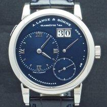 A. Lange & Söhne 38.5mm Manuell uppvridning 1997 begagnad Lange 1 Blå