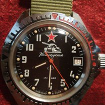 Vostok 38mm Manual winding pre-owned Black