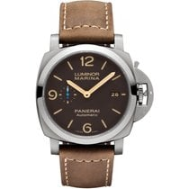 Panerai Luminor Marina 1950 3 Days Automatic Titanium 44mm Brown Arabic numerals United States of America, New York, New York