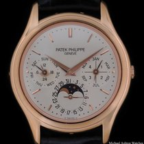 Patek Philippe Perpetual Calendar pre-owned 36mmmm Silver Leather