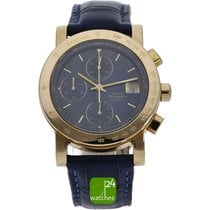 Girard Perregaux Red gold Automatic Blue No numerals 38mm pre-owned GP 7000
