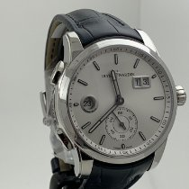 Ulysse Nardin Dual Time Steel 42mm Silver No numerals