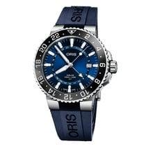 Oris Aquis GMT Date Acier 43.5mm Bleu