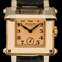 Patek Philippe 18k R/G & W/G Rose Arabic Dial Cabriolet...