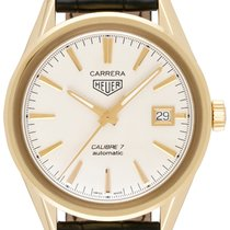 TAG Heuer Carrera Calibre 7 Yellow gold 39,00mm Silver