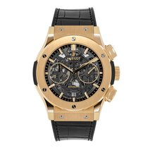 Hublot Classic Fusion Chronograph Aero King Gold Watch UNWORN