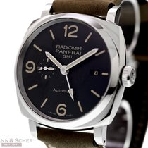 Panerai RADIMIR 1940 3-Days GMT PAM 657 Stainless Steel Box...