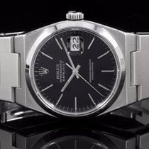 Rolex 17000 SS Oyster Quartz Datejust with Black Stick Dial