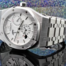 Audemars Piguet 26120ST.OO.1220ST.01 Aço Royal Oak Dual Time 39mm
