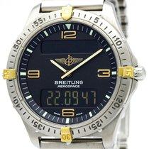 브라이틀링 (Breitling) Aerospace K18 Gold Titanium Quartz Mens...