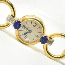 Cartier Vintage Sapphire Diamond 18 Kt Yellow Gold Mechanical...