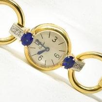 卡地亚 Vintage Sapphire Diamond 18 Kt Yellow Gold Mechanical Watch