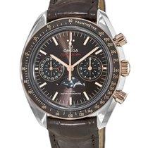 Omega Speedmaster Professional Moonwatch Moonphase Золото/Cталь Коричневый