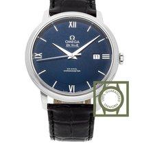 Omega De Ville Prestige Co-Axial 39.5 mm Blue Dial Black Strap