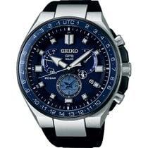 Seiko Astron GPS Solar Chronograph Титан 46,7mm Синий Без цифр