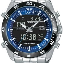 Lorus Chronograph 46mm Quartz new Blue