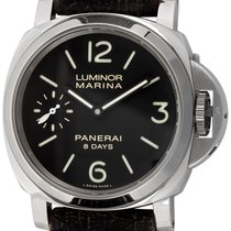 Panerai Luminor Marina 8 Days Сталь 44mm Чёрный