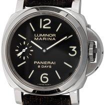 Panerai Luminor Marina 8 Days Сталь 44mm Чёрный