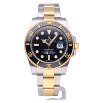 Rolex Submariner Date Black steel/gold from 2017 with box +...