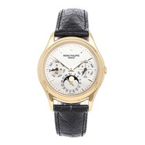 Patek Philippe Perpetual Calendar Yellow gold 36mm Silver No numerals United States of America, Pennsylvania, Bala Cynwyd