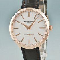 Patek Philippe Red gold Manual winding Silver 38mm pre-owned Calatrava