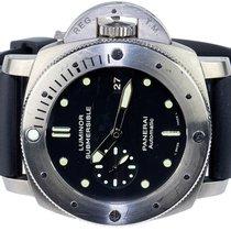 Panerai Luminor Submersible 1950 3 Days Automatic używany 47,00mm Czarny Data Kauczuk