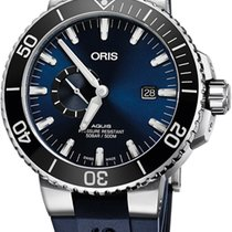 Oris Aquis Small Second 74377334135RS-BLUE new