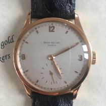 Patek Philippe Red gold Manual winding Pink Arabic numerals 35,5mm pre-owned Calatrava