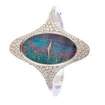 Chopard - Chopard Tigers Eye Opal dial Bracelet Diamond watc -...