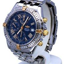 ブライトリング (Breitling) Crosswind Gold Steel Pilotband Blue Roman...