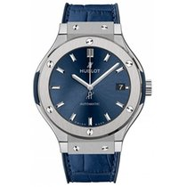 Hublot Titanium Automatic Blue No numerals 38mm new Classic Fusion Blue