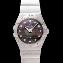 Omega Constellation Quartz Steel 27mm Mother of pearl