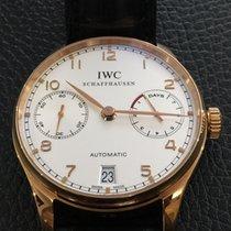 IWC Ouro rosa Automático Prata Árabes 42.3mm usado Portuguese Automatic