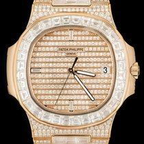 Patek Philippe new Automatic Display Back Center Seconds Gemstone Screw-Down Crown 40mm Rose gold Sapphire Glass